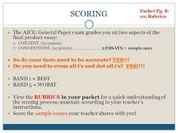 writing the aice general paper an overview ppt the aice general paper exam