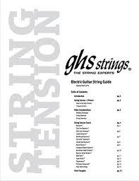 Electric Guitar String Tension Chart Mi2n Com Ghs Strings Launch Updated Guitar Tension Charts