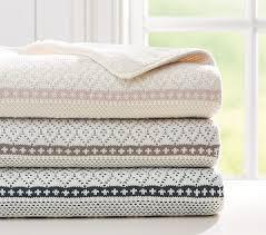 fairisle knit sherpa baby blankets