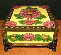 Decorating Cigar Boxes EKDuncan My Fanciful Muse Cigar Box Project with Poppy Stamp by 7