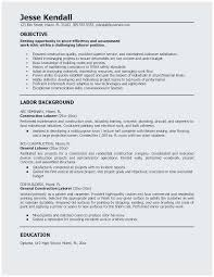 Resume For Construction Worker Resume Construction Company Resume How To Write The Best Resume