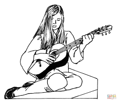 Small Picture acoustic guitar coloring pages Archives coloring page