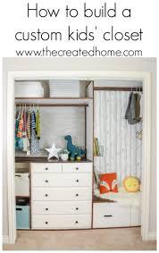 How to build a custom kids closet The Created Home