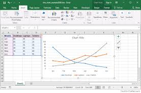 how to create graphs in excel ms excel 2016 how to create a line chart