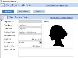Access Personnel Database Template Microsoft Access Templates Employee Scheduling Database For