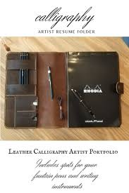 Designer Padfolio Vintage Leather Designer Portfolio Resume Folder In 2019