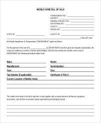 Sample Bill Of Sale 9 Printable Sample Bill Of Sales Sample Templates Mobile