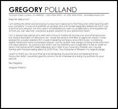 cover letter example for portfolio production artist cover letter sample livecareer