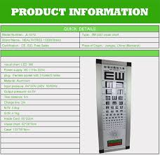 Visual Chart Ophthalmic Optical Equipments Visual Acuity Eye Chart Buy Visual Chart Visual Acuity Chart Visual Chart Light Box Product On Alibaba Com