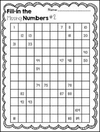 Blank 120 Chart 120 Chart Fill In Puzzle Fun