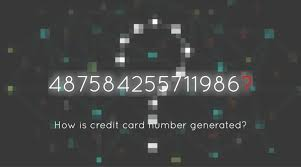 how is a credit card number generated