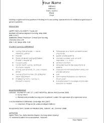 Resume Samples For Nurses With No Experience Sample Resume For Nurses With No Experience Sample Of Comprehensive 15
