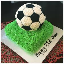 How To Decorate A Soccer Ball Cake 100D buttercream soccer ball cake Cakes I have made Pinterest 6