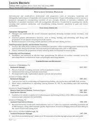 Sample General Manager Resume Restaurant General Manager Resume Beautiful General Resume Sample