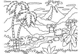 Small Picture Nature coloring pages volcano and jungle ColoringStar