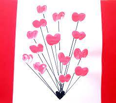 DIY Mothers Day Cards - Heart Fingerprint - kiddycharts.com