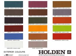 Holden Hq Colour Card Paint Color Chart Paint Color Codes
