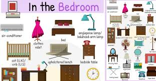 furniture bedroom names. Perfect Names In The Bedroom Vocabulary  Names Of Objects Intended Furniture R