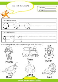 Worksheet Letter Q Activities For Kindergarten worksheet letter q  activities for kindergarten mikyu free abitlikethis tracing