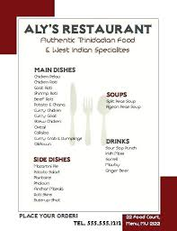 Word Restaurant Menu Templates Restaurant Menu Template A Food In Ms Word Drink Templates Microsoft