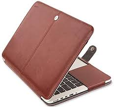 carefully hand stitched macbook pro portfolio lightweight so there s no extra weight in your bag in beautiful brown color