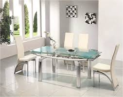 glass extendable dining table and 6 chairs white extending modern black glass extendable dining table