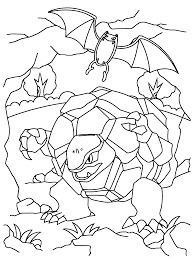Pokemon Paradijs Kleurplaat Golbat En Golem