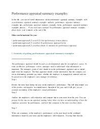Employee Self Assessment Samples Employee Performance Assessment