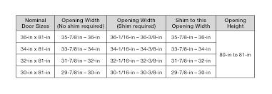 Larson Storm Door Size Chart Measuring For Storm Doors Pella Storm Doors