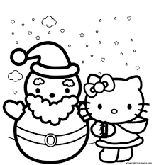 Coloring is a fun way for kids to be creative and learn how to draw and use the colors. Hello Kitty Winter Themed S1d5c4 Coloring Pages Printable