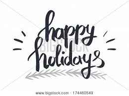 happy holidays black and white card. Perfect White Happy Holidays Black Calligraphic Written By Hand Text On White Blackwhite  Festival Card Inside Holidays Black And White Card A