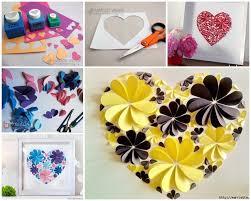 3d 3d paper wall art diy 3d paper flower heart wonderfuldiy2 on 3d paper wall art ideas with wall art ideas