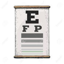 Eye Vision Chart Numbers Eye Vision Test Poor Eyesight Myopia Diagnostic On Snellen Eye