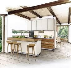 interior design sketches kitchen. Kitchen Sketch Más · Interior Design Sketches N