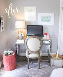 office makeover ideas. Home Office Makeover \u0026 Back To School Organization From AmysPartyIdeas.com   Swoozie\u0027s Ideas