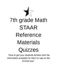 7th Grade Math Staar Reference Chart Quizzes