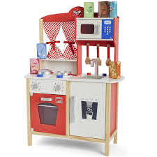 universe of imagination wooden red play kitchen  toys r us