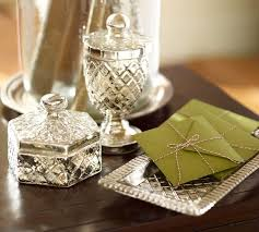 for an elegant on trend office use these mercury glass desk accessories