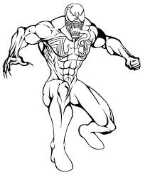 Venom, one of the nemeses of spiderman is an interesting choice for coloring. Free Printable Venom Coloring Page Spiderman Coloring Superhero Coloring Pages Cartoon Coloring Pages