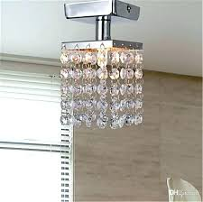 unusual mini semi flush mount in crystal chandelier modern chandeliers ceiling lamp entrance hallway light lights