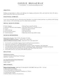 Resume For Radiologic Technologist Mesmerizing Radiologic Technologist Resume Cover Letter Examples Sample