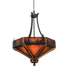 aspen treescape inverted pendant light