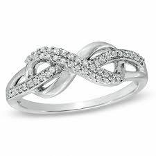 infinity wedding rings. t.w. diamond infinity loop ring in sterling silver wedding rings