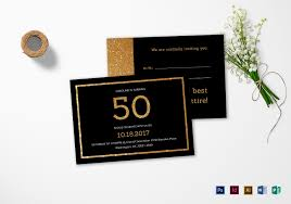 Word Template For Birthday Invitation Elegant Black And Gold 50th Birthday Invitation Template