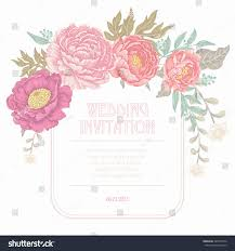 Florist Wedding Contract Template Awesome Vector Vintage Card Image ...