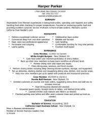fast food resume examples unforgettable cashier resume examples to sample resume for food service assistant manager fast food cashier resume