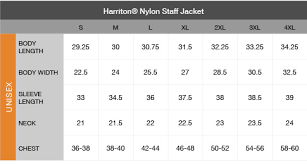 Harriton Size Chart Positive Promotions