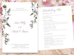 Wedding Ceremony Brochure Ceremony Booklets By Love Blossoms