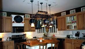 full size of pot rack chandelier diy with downlights idea kitchen light for lights racks hanging