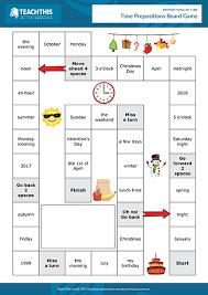 Time Prepositions Esl Games Activities Worksheets